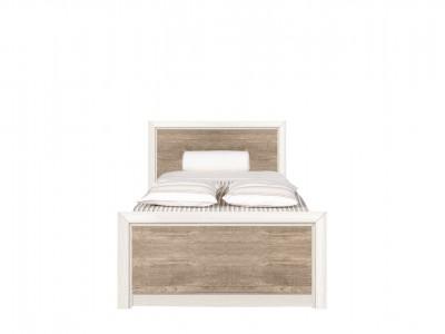 Коен кровать LOZ 90x200 металлическая основа ясень