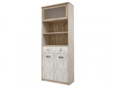 Шкаф с витриной 1V2D1S2N