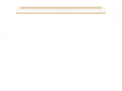 ВАЙТ (золотой) Полка 160